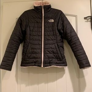 The North Face reversible girls puffer